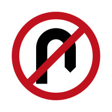 Australia Traffic Sign No U Turn