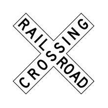 United_States_of_ America_Traffic_Sign_Railroad_Crossing_Crossbuck