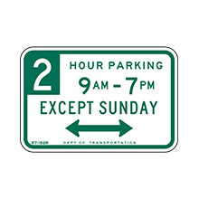 United States Traffic Sign Parking With Time Restrictions (New York City)