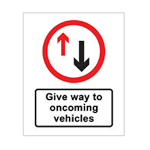 UK Traffic Sign Give Priority to Vehicles from Opposite Direction
