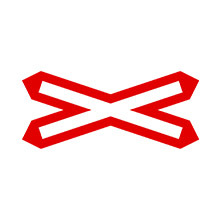 UK Traffic Sign Level Crossing Without Barrier