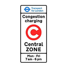 UK Traffic Sign Entrance to Congestion Charging Zone
