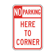 United_States_of_ America_Traffic_Sign_No_Parking_Here_to_Corner
