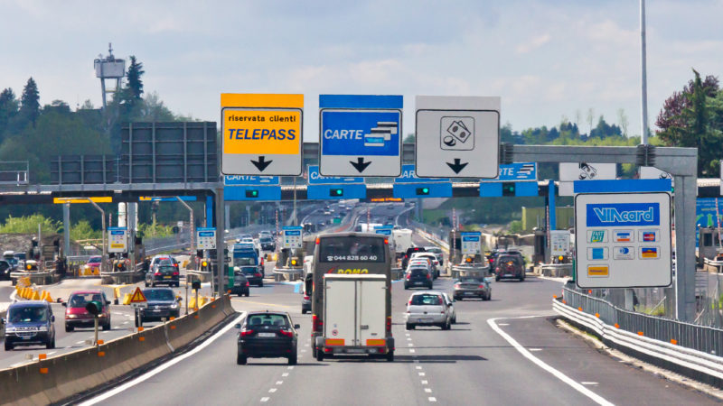 Italy Highway Entrance