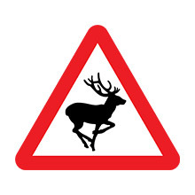 UK Traffic Sign Wild Animals