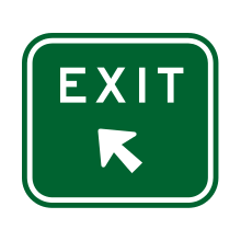 Autralia Traffic Sign Exit