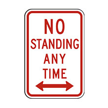 United_States_of_ America_Traffic_Sign_No_Standing_Any_Time