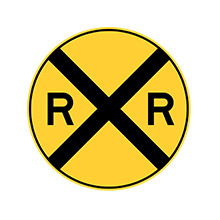 United_States_of_ America_Traffic_Sign_Railroad_Crossing_Ahead