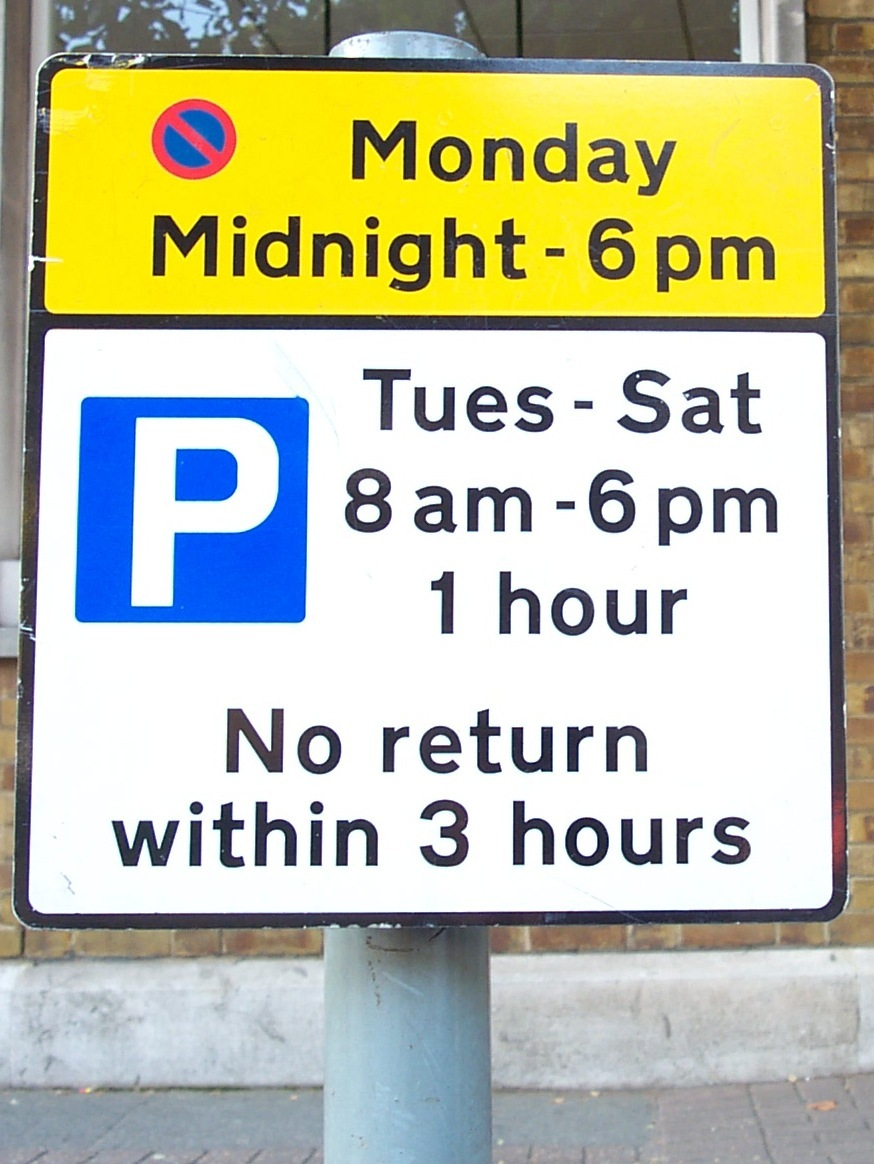 United Kingdom Paid Parking Signs