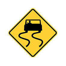 United_States_of_ America_Traffic_Sign_Road_Slippery_When_Wet
