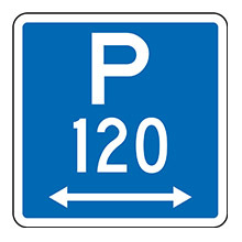 New Zealand Parking With Specified Time And Arrow