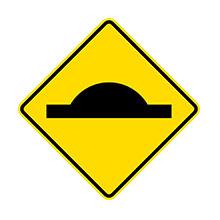 New Zealand Traffic Sign Road Bump