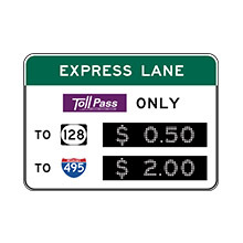 United_States_of_ America_Traffic_Sign_Toll_Costs_at_Intersections_or_HOV_2+