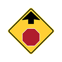 United_States_of_ America_Traffic_Sign_Stop_Ahead