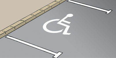 Ireland Parking Spot for the Disabled