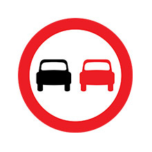 UK Traffic Sign No Overtaking