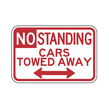 United_States_of_ America_Traffic_Sign_No_Standing_Cars_Towed_Away_Baltimore